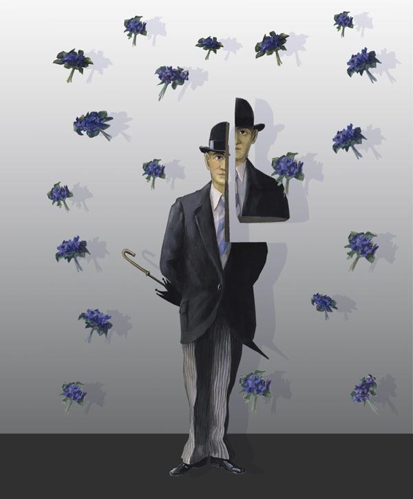 Ausstellungsplakat: 'Kann Regen schön sein?', Collage